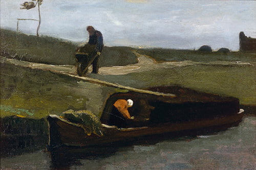 Peat Boat with Two Figures_van_Gogh_F21_JH415