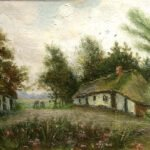 Digging Farmer and Farmers Son at Farmhouse -  Institution/source: Museum Vincentre